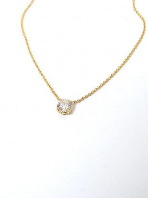 Hanger -  geel goud - diamant briljant slijpsel