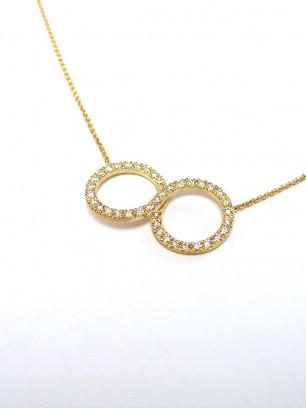 Hanger - geel goud - -diamanten  briljant slijpsel