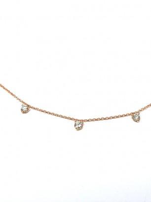 Hanger - roze goud - diamanten briljant slijpsel