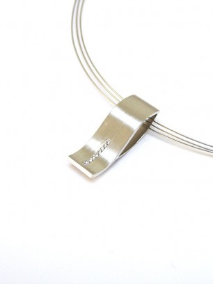 Hanger - wit goud - diamanten briljant slijpsel